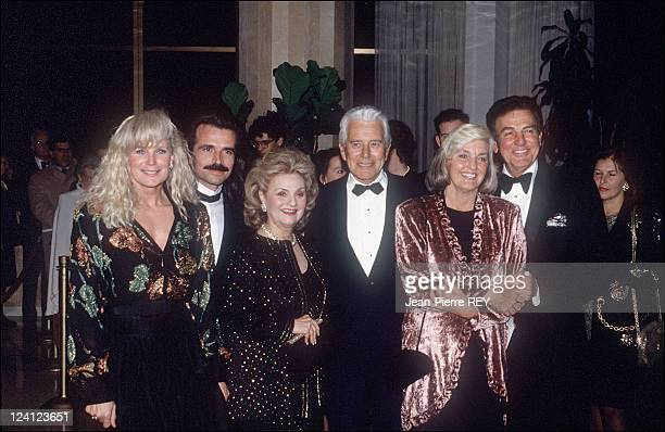 International TV Festival In Monte Carlo Monaco In February 1993 Linda Evans Mr and Mrs Forsythe Mike Connors and his wife