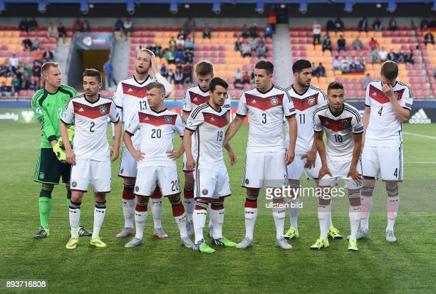 FUSSBALL International UEFA U21EUROPAMEISTERSCHAFT 2015 GRUPPENPHASE in Prag Deutschland 11 Serbien Mannschaftsbild Deutschland Torwart MarcAndre ter...