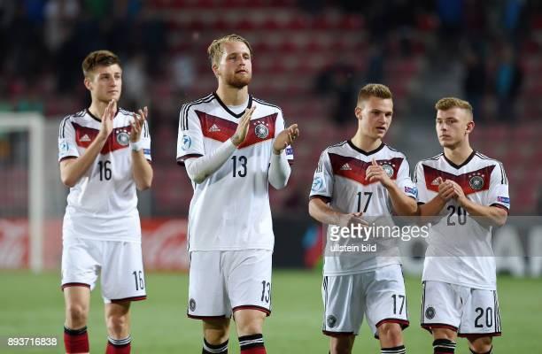 FUSSBALL International UEFA U21EUROPAMEISTERSCHAFT 2015 GRUPPENPHASE in Prag Deutschland 11 Serbien Enttaeuschung Deutschland Robin Knoche Philipp...