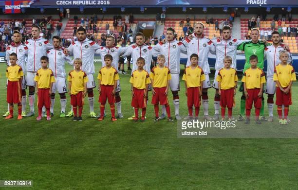 FUSSBALL International UEFA U21EUROPAMEISTERSCHAFT 2015 GRUPPENPHASE in Prag Deutschland 11 Serbien Mannschaftsbild Deutschland Moritz Leitner...