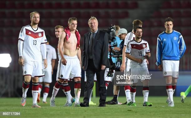 FUSSBALL International UEFA U21EUROPAMEISTERSCHAFT 2015 GRUPPENPHASE in Prag Deutschland 11 Serbien Enttaeuschung Deutschland Philipp Hofmann...