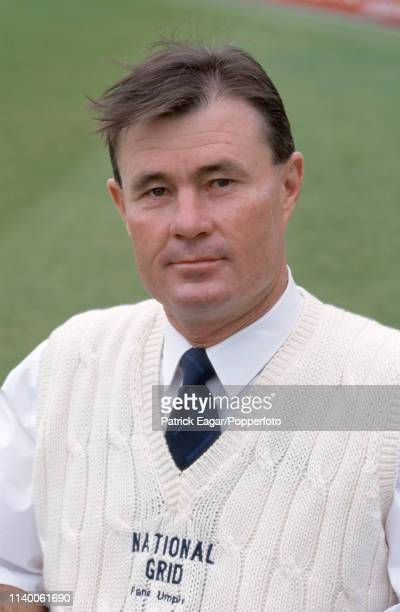 International umpire Russell Tiffin during the 1st Test match between England and South Africa at Edgbaston Birmingham 4th June 1998
