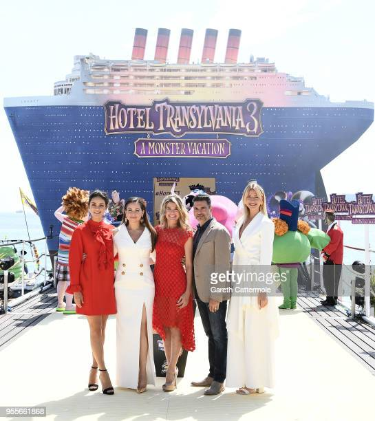 International voice cast Janina Uhse Raya Abirached Anke Engelke Rick Kavanian and Lesia Nikitiuk cruise into the 71st Cannes Film Festival for a...