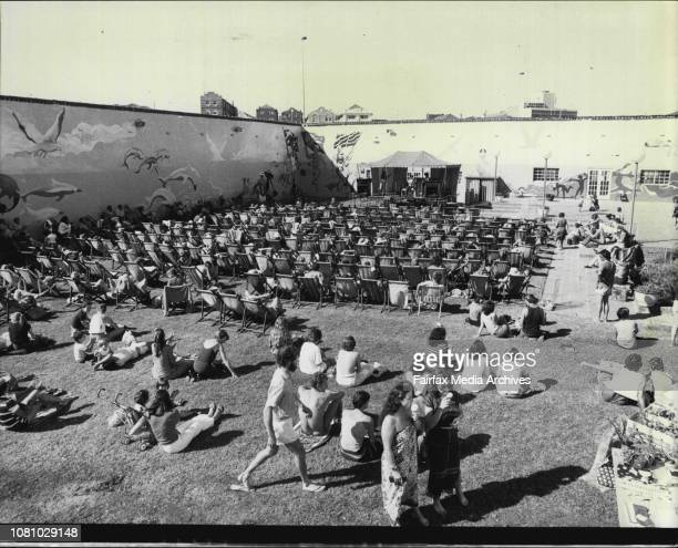 A Concert was held today in the Bondi Palvillion in which Margaret Whitlam took over and host and the People Lazed in the Sun in the old Bondi Deck...