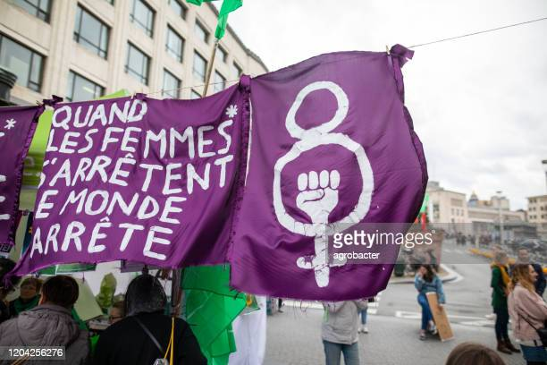 international women's day in brussels,belgium - international womens day stock pictures, royalty-free photos & images