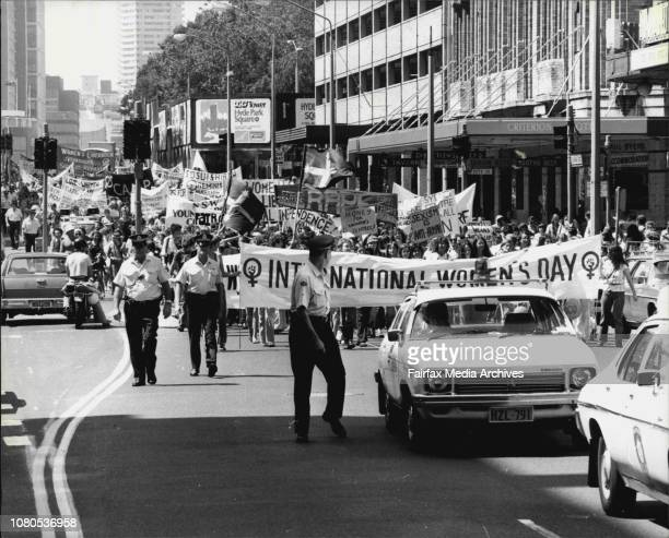 International Women's Day seen about 3000 women and some men take to the streets of Sydney for their rally and afterwards they met in Hyde Park for a...