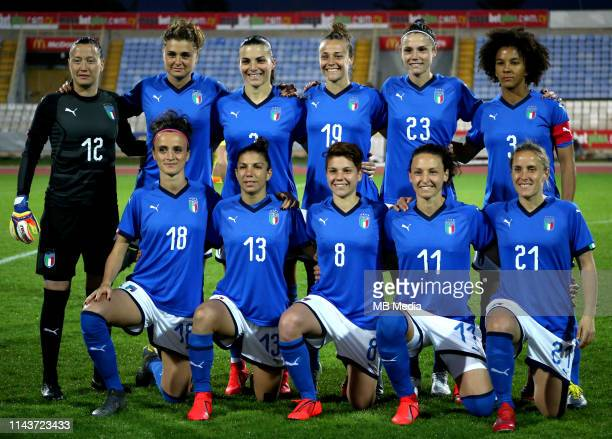 International Women's Friendly Matches 2019 / Womens's Cyprus Cup Tournament 2019 Korea DPR v Italy 33 aet Team of Italy Pose prior the Final Match...