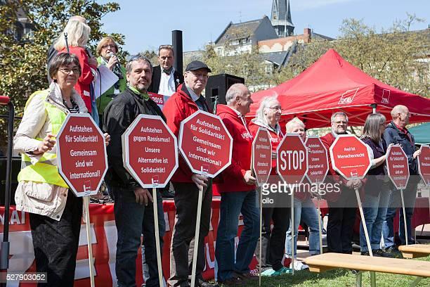 Internationaler Tag der Arbeiter-labor intensive production line 2016, Wiesbaden
