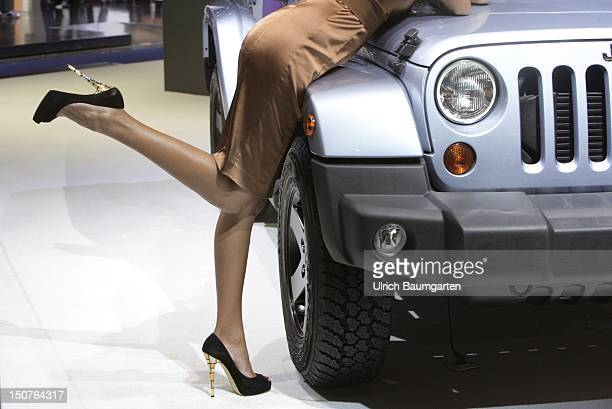 Internationale AutomobilAusstellung International Motor Show in Frankfurt Main Our picture shows model at a car of the company Jeep
