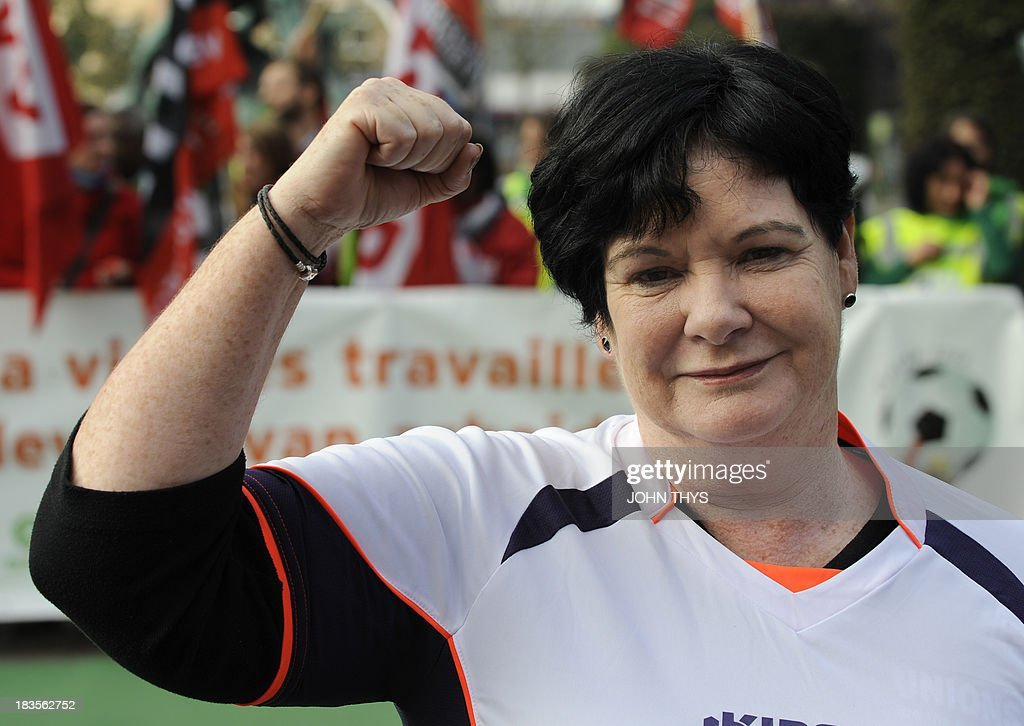 BELGIUM-QATAR-WC2022-UNIONS-RIGHTS : News Photo