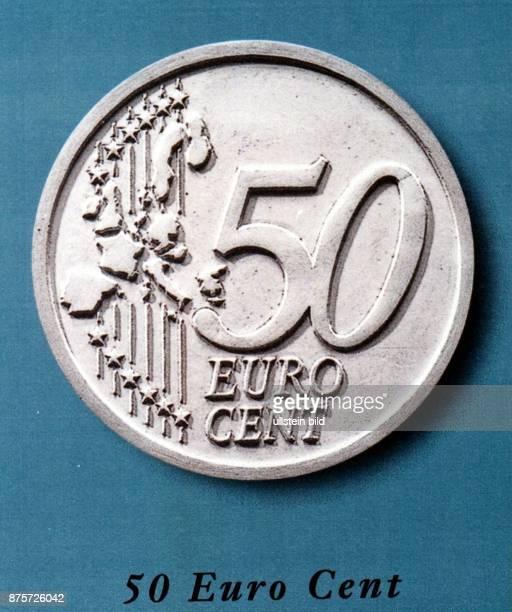 Internationale Seite der 50 Cent Münze