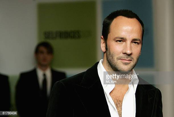 Internationally acclaimed fashion designer Tom Ford who parted from both Gucci and Yves Saint Laurent last season signs copies of his new book 'Ten...