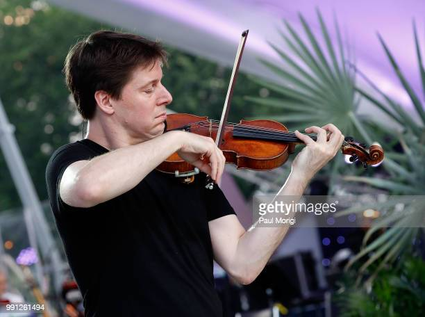 Internationally acclaimed Grammy Awardwinning violinist Joshua Bell performs at the 2018 A Capitol Fourth rehearsals at US Capitol West Lawn on July...