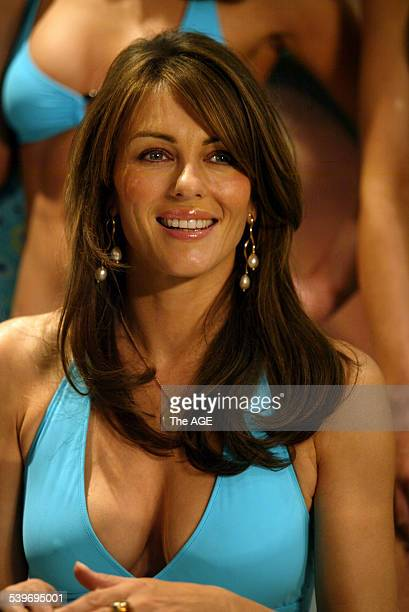 Internationally recognised model, actor and now fashion designer, Elizabeth Hurley launches her new Elizabeth Hurley Beach Range at David Jones today...