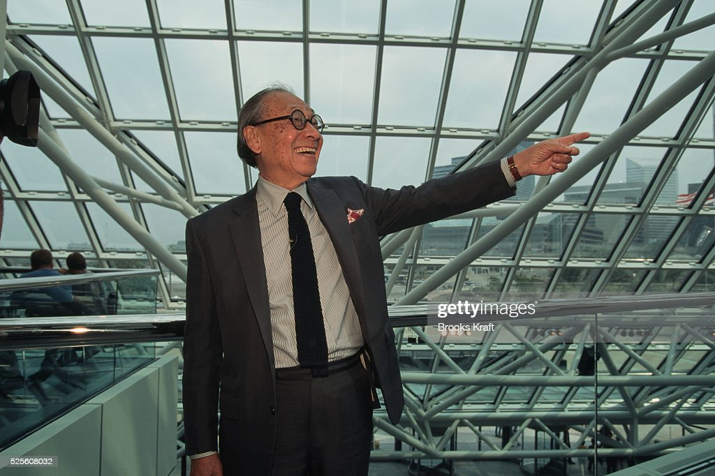 Architect Ieoh Ming Pei in Cleveland : News Photo