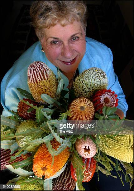 Internationally renowned botanical artist Celia Rosser with some of her subjects from the 'The Banksias' project which she has worked on for 25 years...