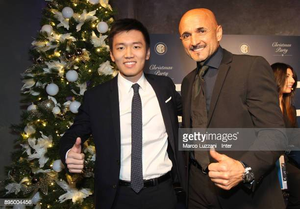 Internazionale board member Steven Zhang and FC Internazionale Milano coach Luciano Spalletti attend FC Internazionale Christmas Party on December 18...