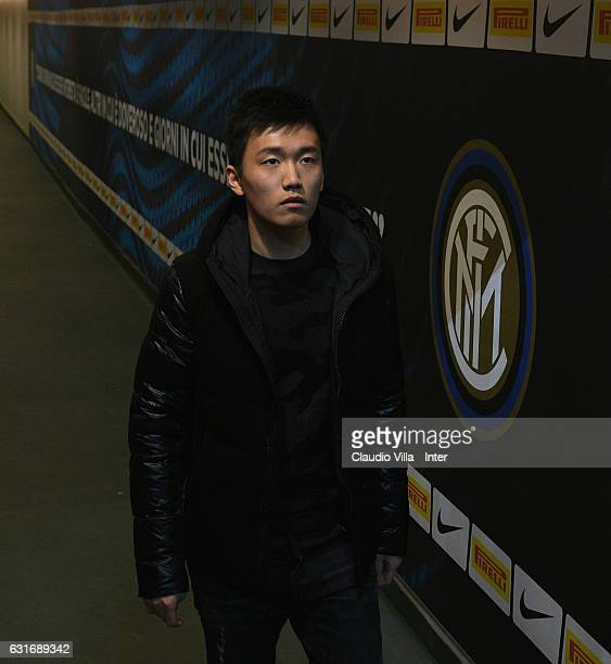 Internazionale board member Steven Zhang attends the Serie A match between FC Internazionale and AC ChievoVerona at Stadio Giuseppe Meazza on January...