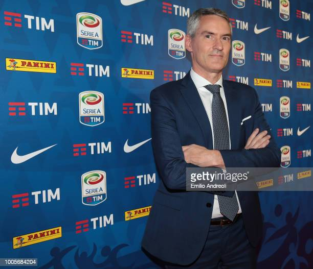 Internazionale CEO Alessandro Antonello attends the Serie A 2018/19 Fixture unveiling on July 26 2018 in Milan Italy