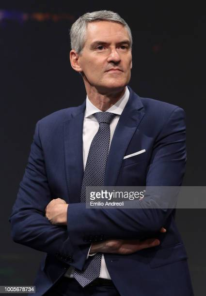 Internazionale CEO Alessandro Antonello looks on during the Serie A 2018/19 Fixture unveiling on July 26 2018 in Milan Italy