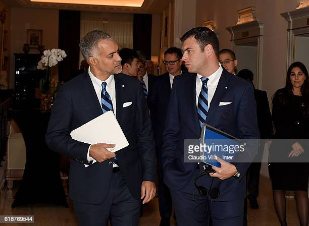 Internazionale CEO Michael Bolingbroke and Chief Revenue Officer Michael Gandler attend FC Internazionale Shareholder's Meeting on October 28 2016 in...