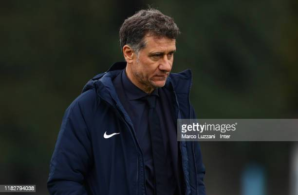 Internazionale coach Attilio Sorbi looks on at the end of the Women Serie A match between FC Internazionale and Orobica at Campo Sportivo F Chinetti...