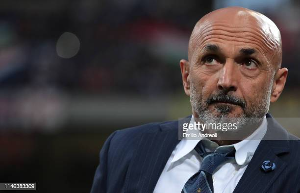 Internazionale coach Luciano Spalletti looks on prior to the Serie A match between FC Internazionale and Empoli FC at Stadio Giuseppe Meazza on May...
