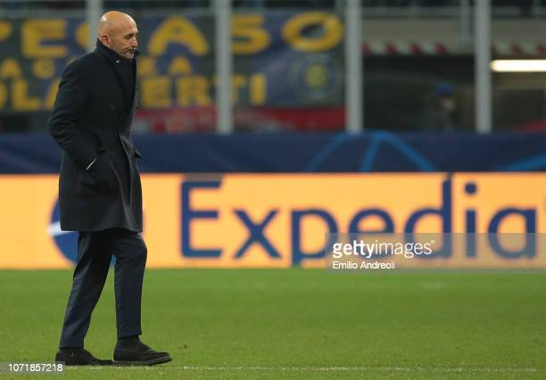 Internazionale coach Luciano Spalletti reacts at the end of the UEFA Champions League Group B match between FC Internazionale and PSV at San Siro...