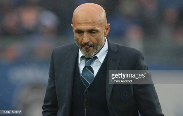 Internazionale coach Luciano Spalletti shows his dejection during the Serie A match between Atalanta BC and FC Internazionale at Stadio Atleti...