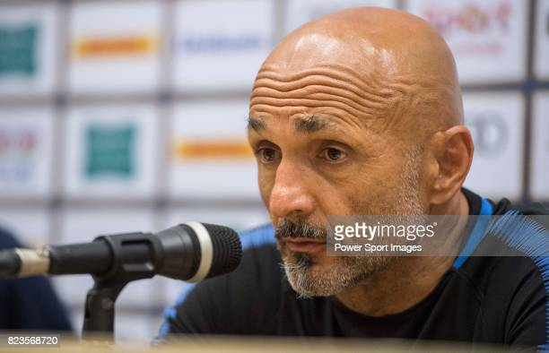Internazionale Coach Luciano Spalletti talks during the press conference after the International Champions Cup match between FC Bayern and FC...