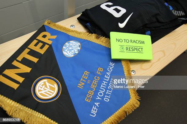 Internazionale dressing room prior to the UEFA Youth League Domestic Champions Path match between FC Internazionale and Esbjerg fB at Stadio Breda on...