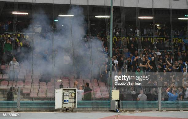 Internazionale fan during the Serie A match between SSC Napoli and FC Internazionale at Stadio San Paolo on October 21 2017 in Naples Italy