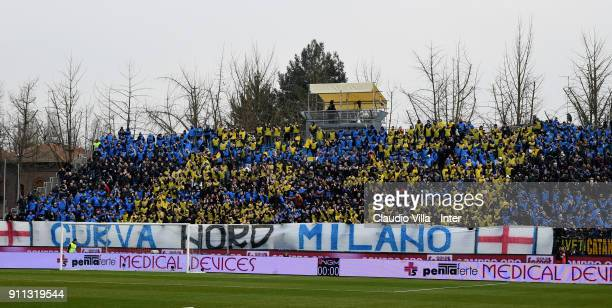 Internazionale fans during the serie A match between Spal and FC Internazionale at Stadio Paolo Mazza on January 28 2018 in Ferrara Italy