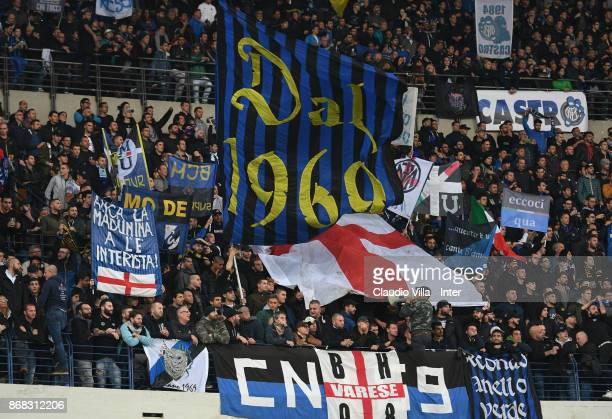 Internazionale fans prior to the Serie A match between Hellas Verona FC and FC Internazionale at Stadio Marc'Antonio Bentegodi on October 30 2017 in...
