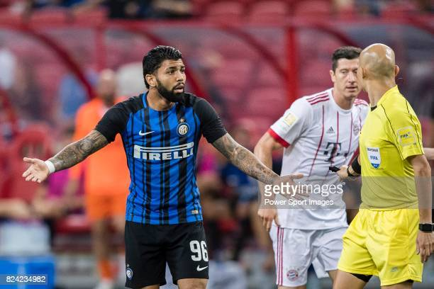 Internazionale Forward Gabriel Barbosa gestures during the International Champions Cup match between FC Bayern and FC Internazionale at National...
