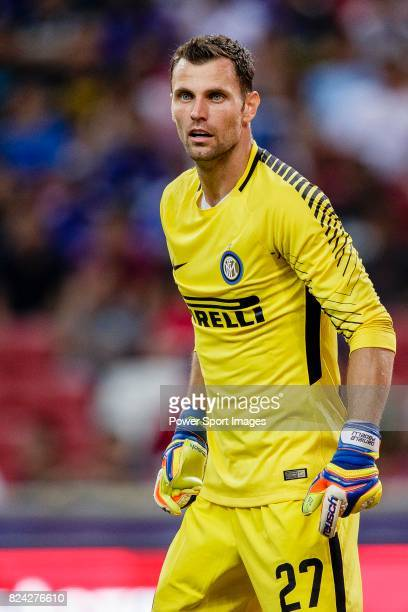 Internazionale Goalkeeper Daniele Padelli in action during the International Champions Cup 2017 match between FC Internazionale and Chelsea FC on...