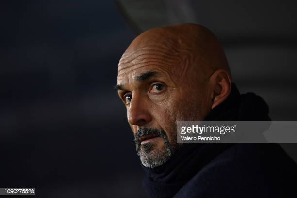 Internazionale head coach Luciano Spalletti looks on during the Serie A match between Torino FC and FC Internazionale at Stadio Olimpico di Torino on...