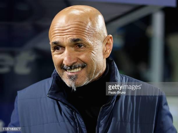 Internazionale head coach Luciano Spalletti looks on during the Serie A match between Frosinone Calcio and FC Internazionale at Stadio Benito Stirpe...