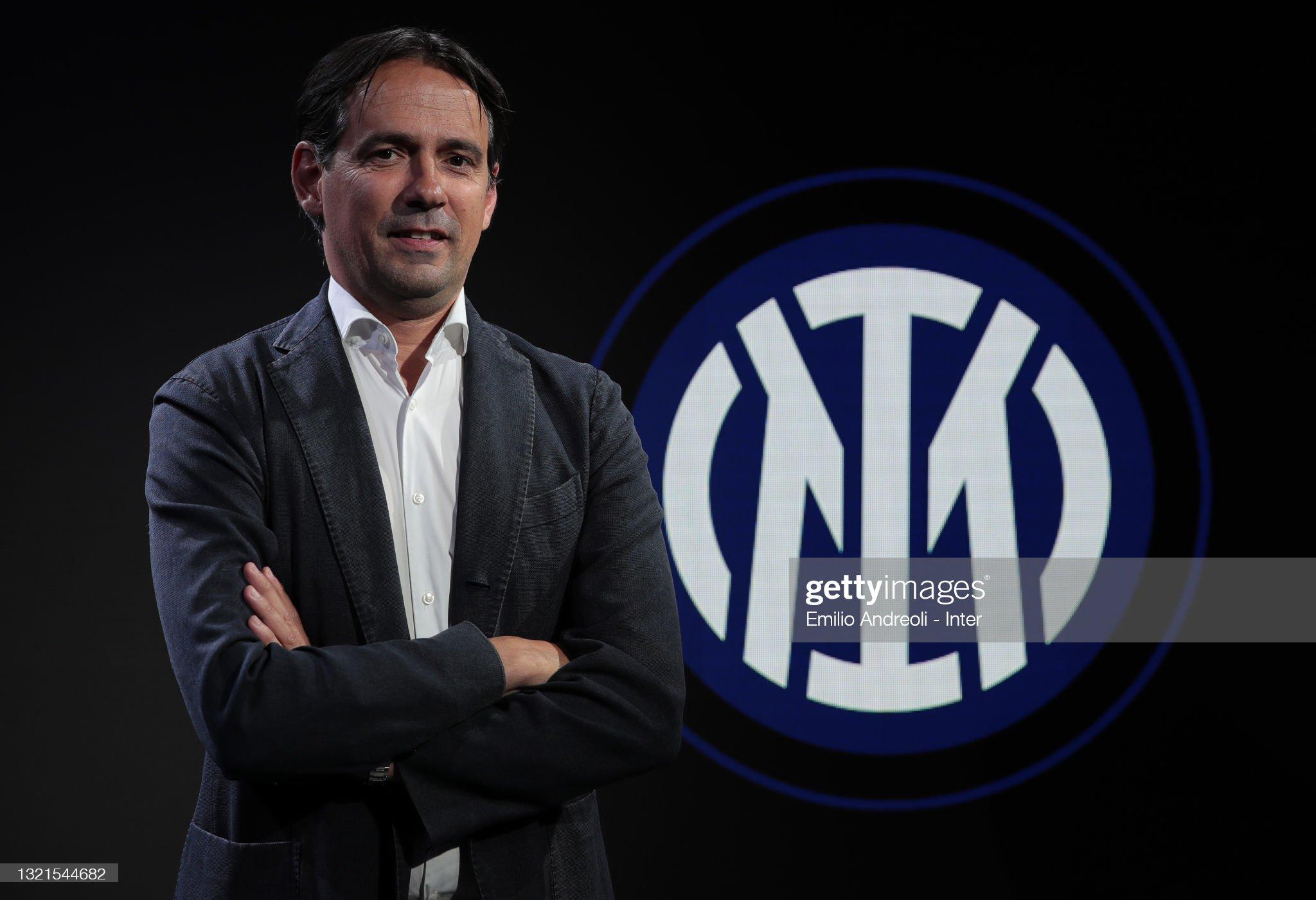 FC internazionale Unveil New Coach Simone Inzaghi : News Photo