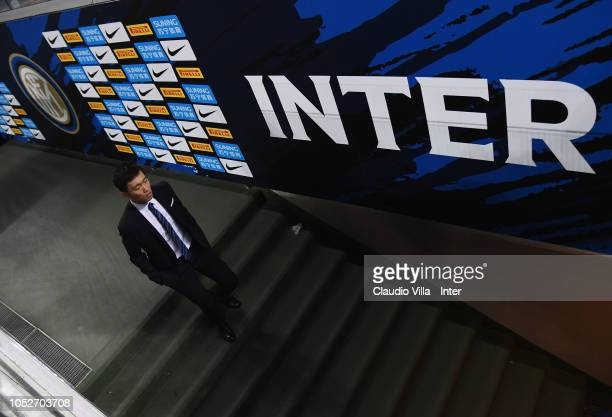 Internazionale Milano board member Steven Zhang attends during the Serie A match between FC Internazionale and AC Milan at Stadio Giuseppe Meazza on...