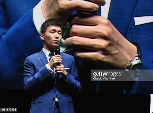 Internazionale Milano board member Steven Zhang Kangyang attends FC Internazionale 110 Years Anniversary at Hangar Pirelli on March 9 2018 in Milan...