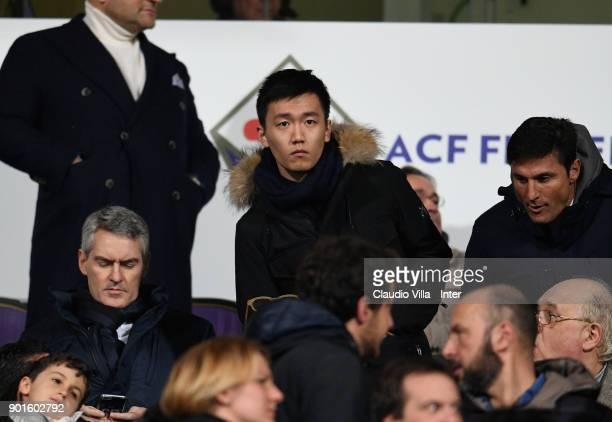 Internazionale Milano board member Steven Zhang Kangyang looks on during the serie A match between ACF Fiorentina and FC Internazionale at Stadio...