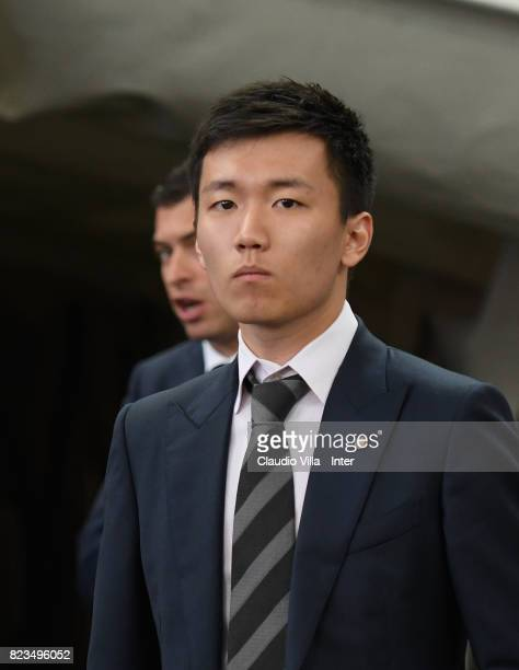 Internazionale Milano board member Steven Zhang Kangyang looks on prior to the International Champions Cup match between FC Bayern and FC...