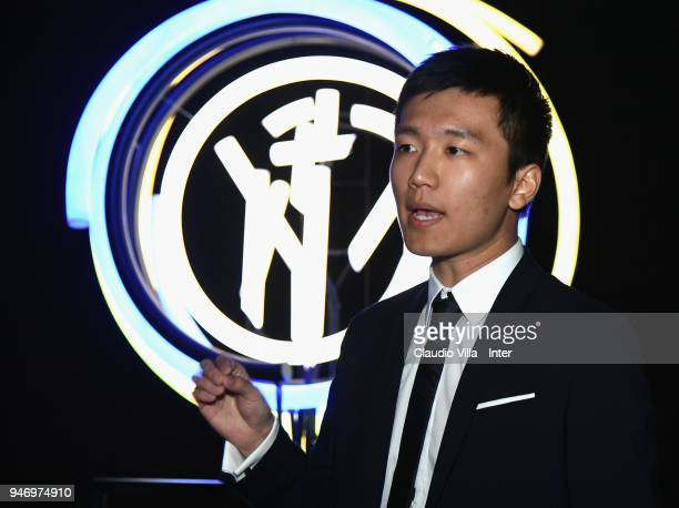 Internazionale Milano board member Steven Zhang Kangyang speaks with the media during the unveiling of FC Internazionale 'Innovative Passion' Concept...