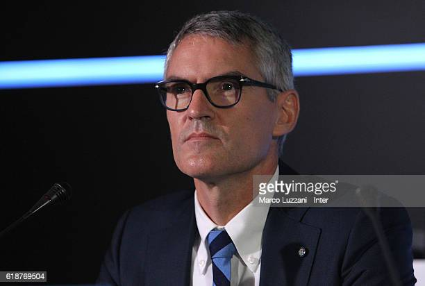 Internazionale Milano Chief Operating Officer Alessandro Antonello looks on during FC Internazionale Shareholder's Meeting on October 28 2016 in...