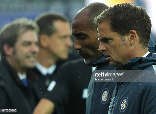 Internazionale Milano coach Frank de Boer looks dejection during the Serie A match between Atalanta BC and FC Internazionale at Stadio Atleti Azzurri...