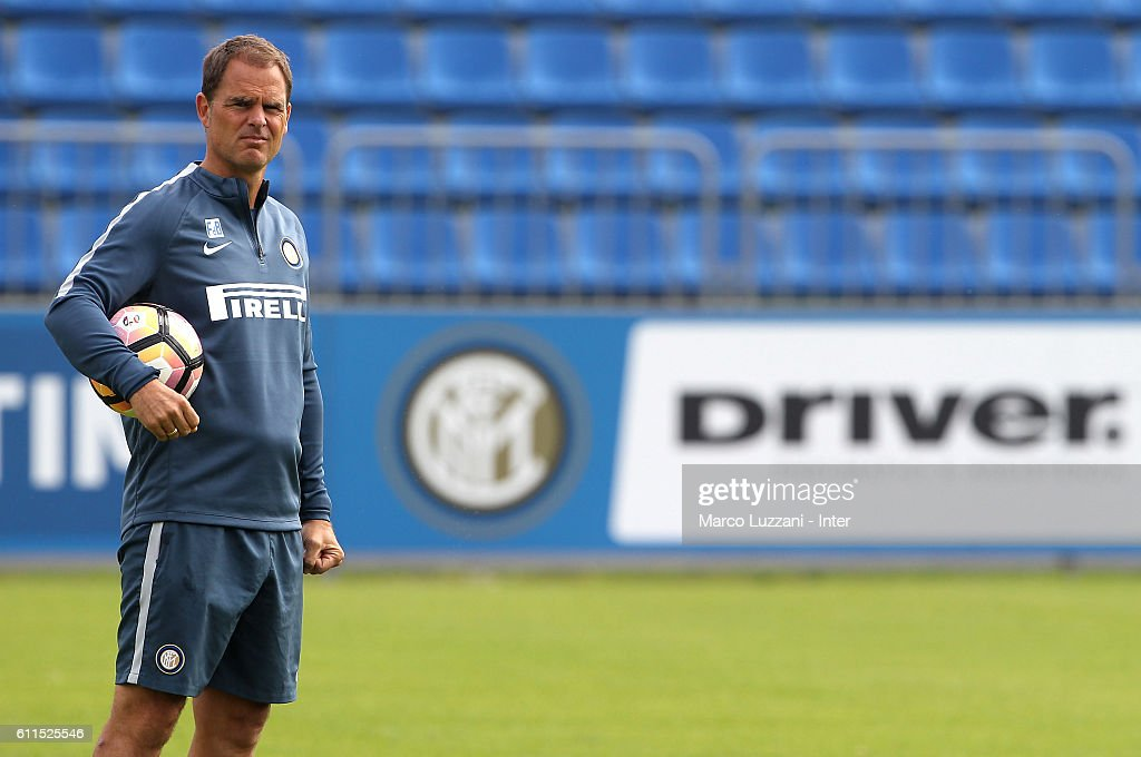FC Internazionale Milano coach Frank de Boer looks on during the FC Internazionale training session at the club's training ground 'La Pinetina' on September 30, 2016 in Como, Italy.