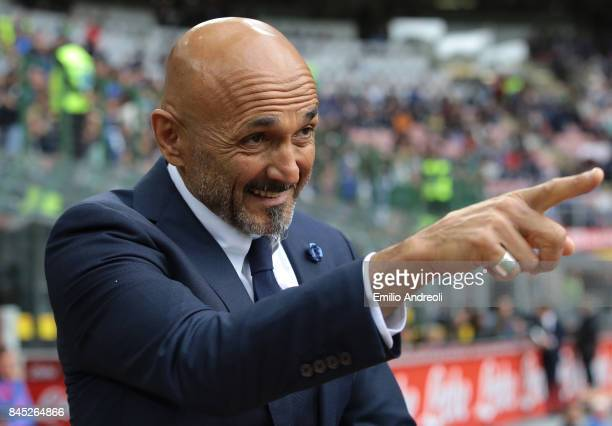 Internazionale Milano coach Luciano Spalletti gestures prior to the Serie A match between FC Internazionale and Spal at Stadio Giuseppe Meazza on...