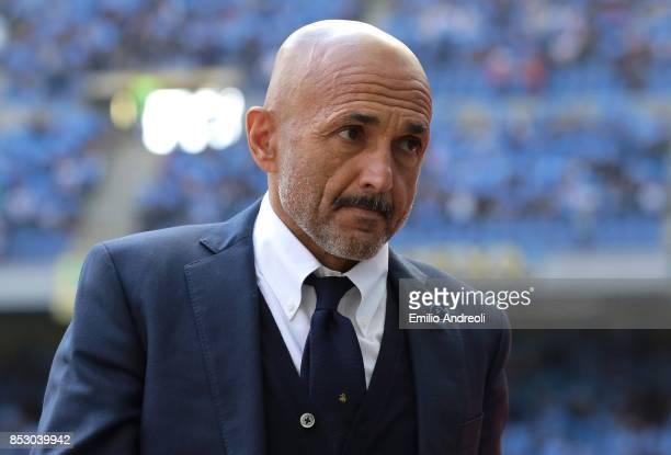 Internazionale Milano coach Luciano Spalletti looks on before the Serie A match between FC Internazionale and Genoa CFC at Stadio Giuseppe Meazza on...