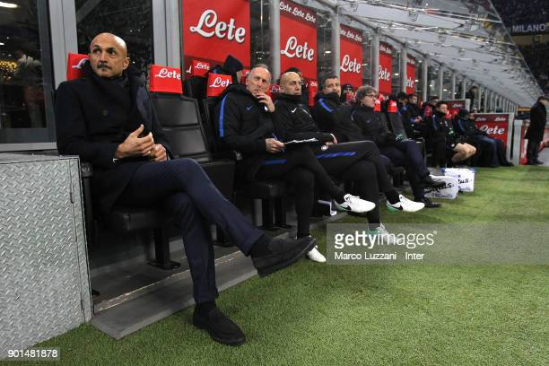 Internazionale Milano coach Luciano Spalletti looks on before the serie A match between FC Internazionale and SS Lazio at Stadio Giuseppe Meazza on...